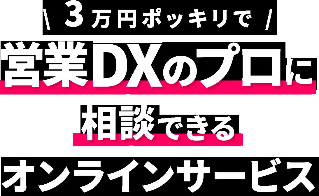 3万円ポッキリでDXのプロに相談できるオンラインサービス
